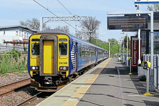 Alloa Railway Station (Mortons Media Group Ltd. Material https://www.railwaymagazine.co.uk/egip-wires-advance-towards-alloa/)