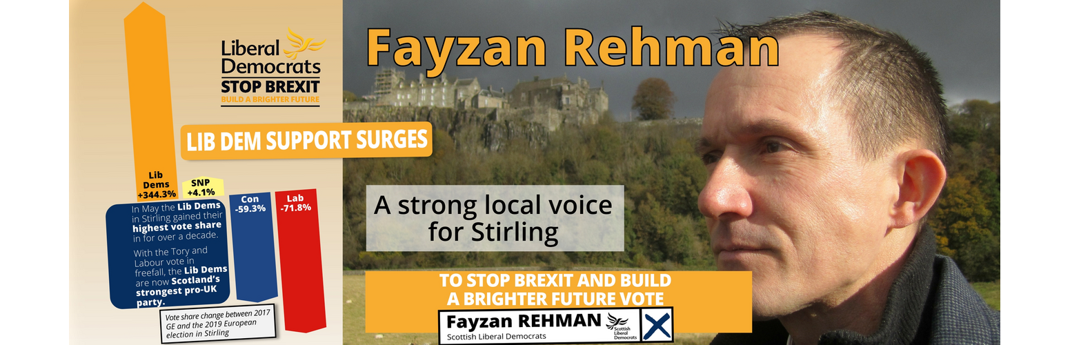 Fayzan Rehman - 2019 GE Candidate for Stirling