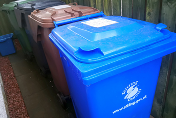 Stirling Council Recycling Bins